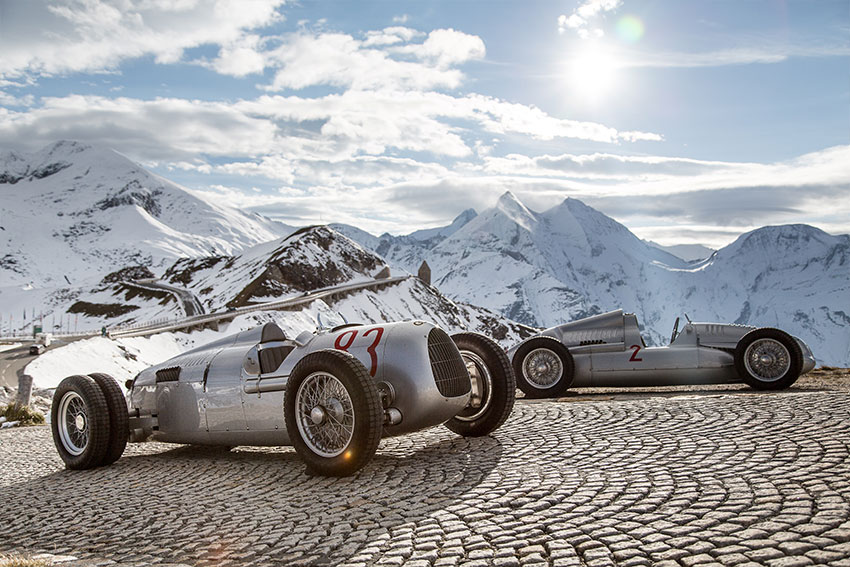 Auto Union Rennwagen am Grossglockner